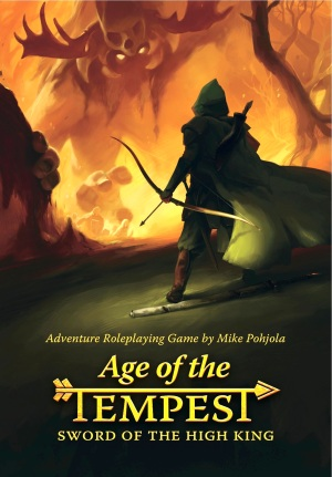 The cover for the game. Art by Jari Paananen, design by Tommi Kovala.